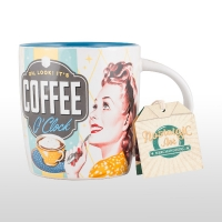 Cana ceramică nostalgic art COFFEE O`CLOCK