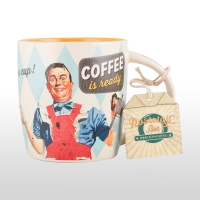 Cana ceramică nostalgic art COFFEE IS READY