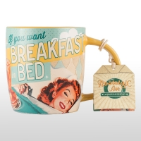 Cana ceramică nostalgic art BREAKFAST IN BED